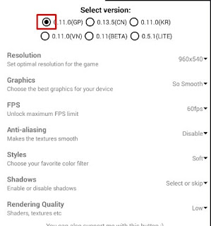 Konfigurasi Aplikasi GFX Tool