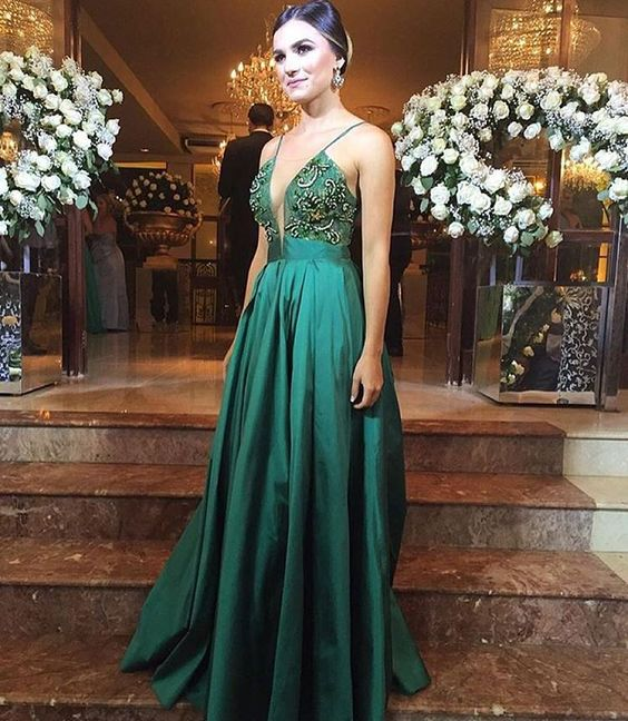 Vestido para madrinha cor verde