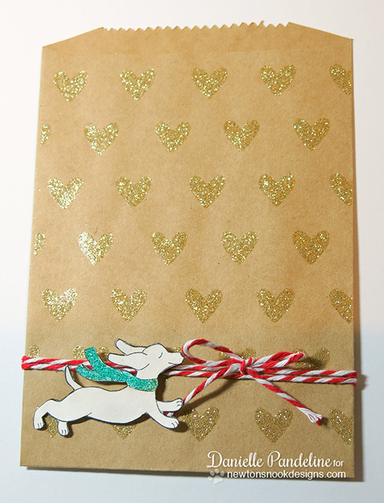 Doxie Christmas Treat bag by Danielle Pandeline for Newton's Nook Designs - Holiday Hounds Stamp Set