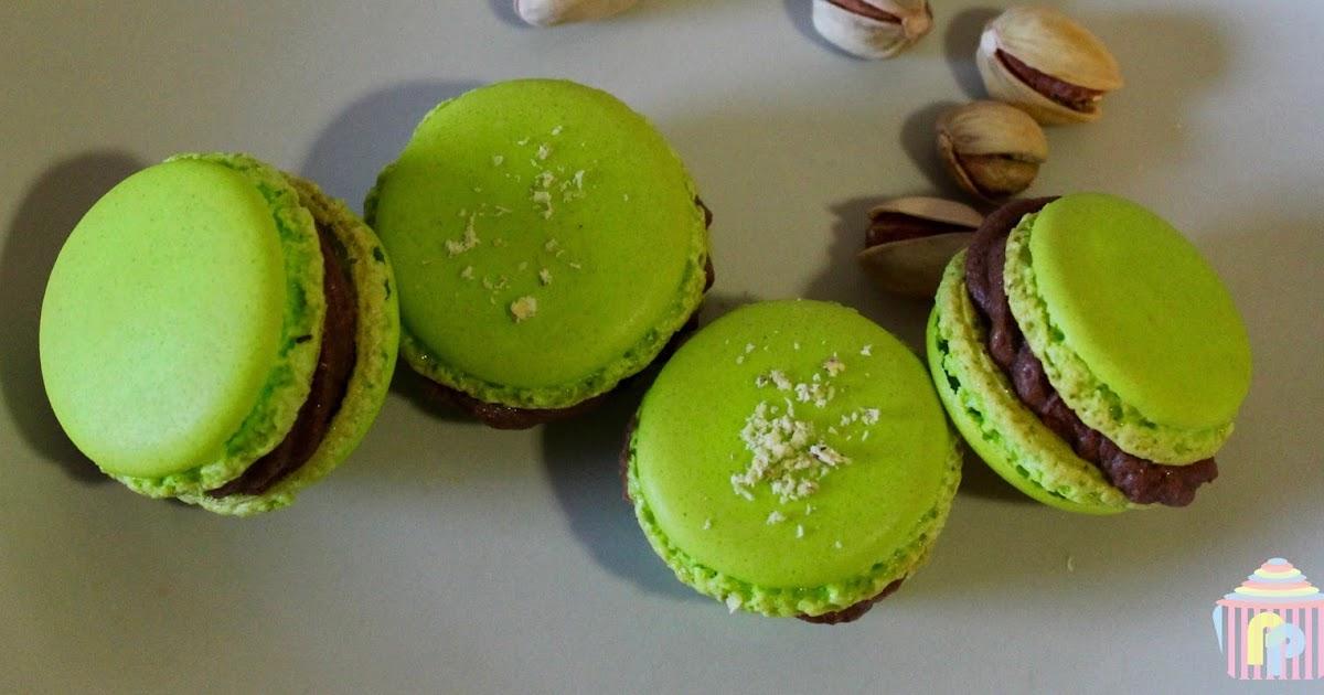 Macarons de pistacho y chocolate (sin gluten ni lactosa)