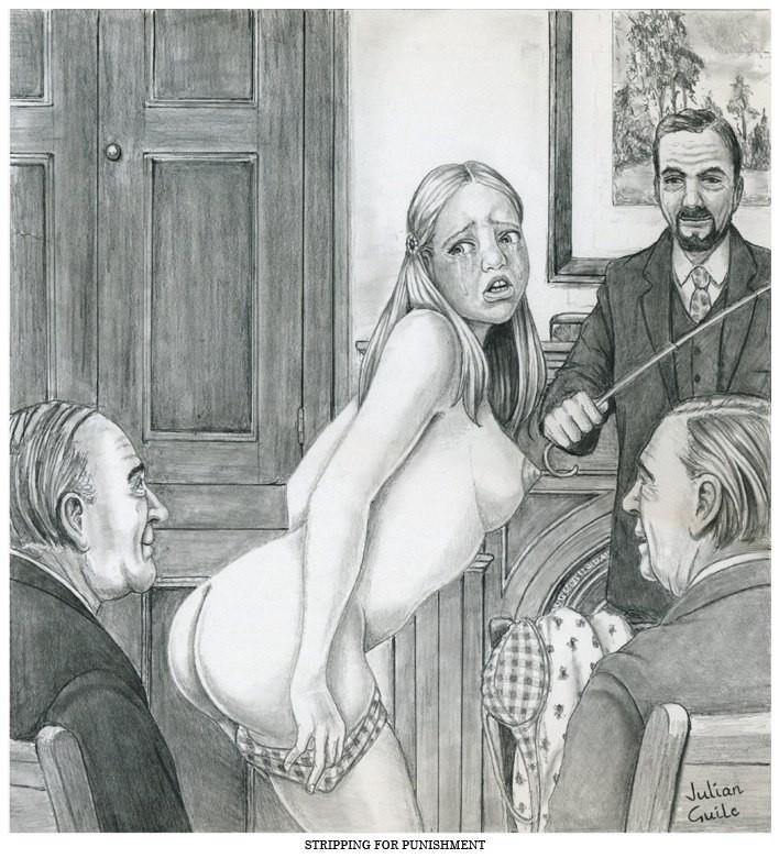 john willie spanking drawings