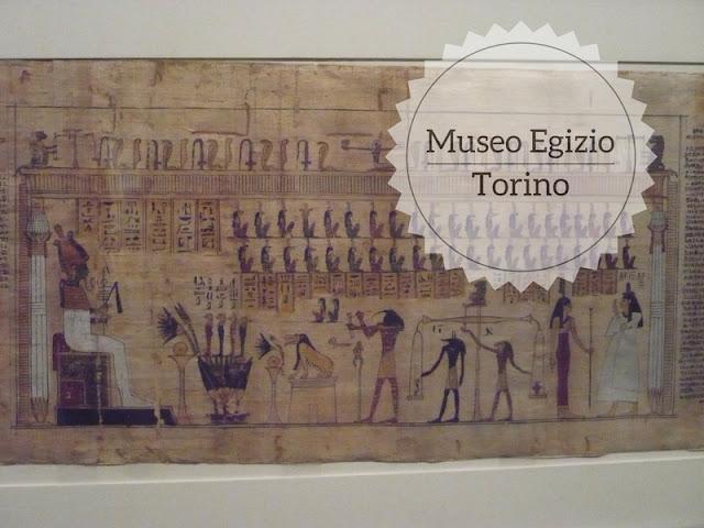 La visita al Museo Egizio di Torino. papiro del libro dei morti