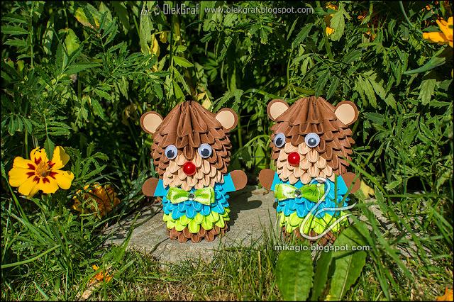 462. Misie eleganciki z origami / 3d origami bears
