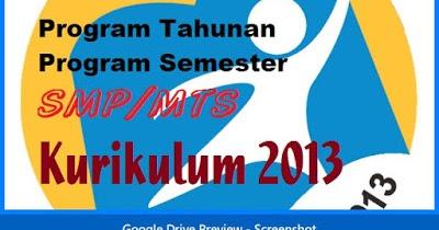 Prota Dan Promes Seni Budaya Smp Kelas 7 8 9 Kurikulum 2013 Revisi 2017 Rpp Kurikulum 2013