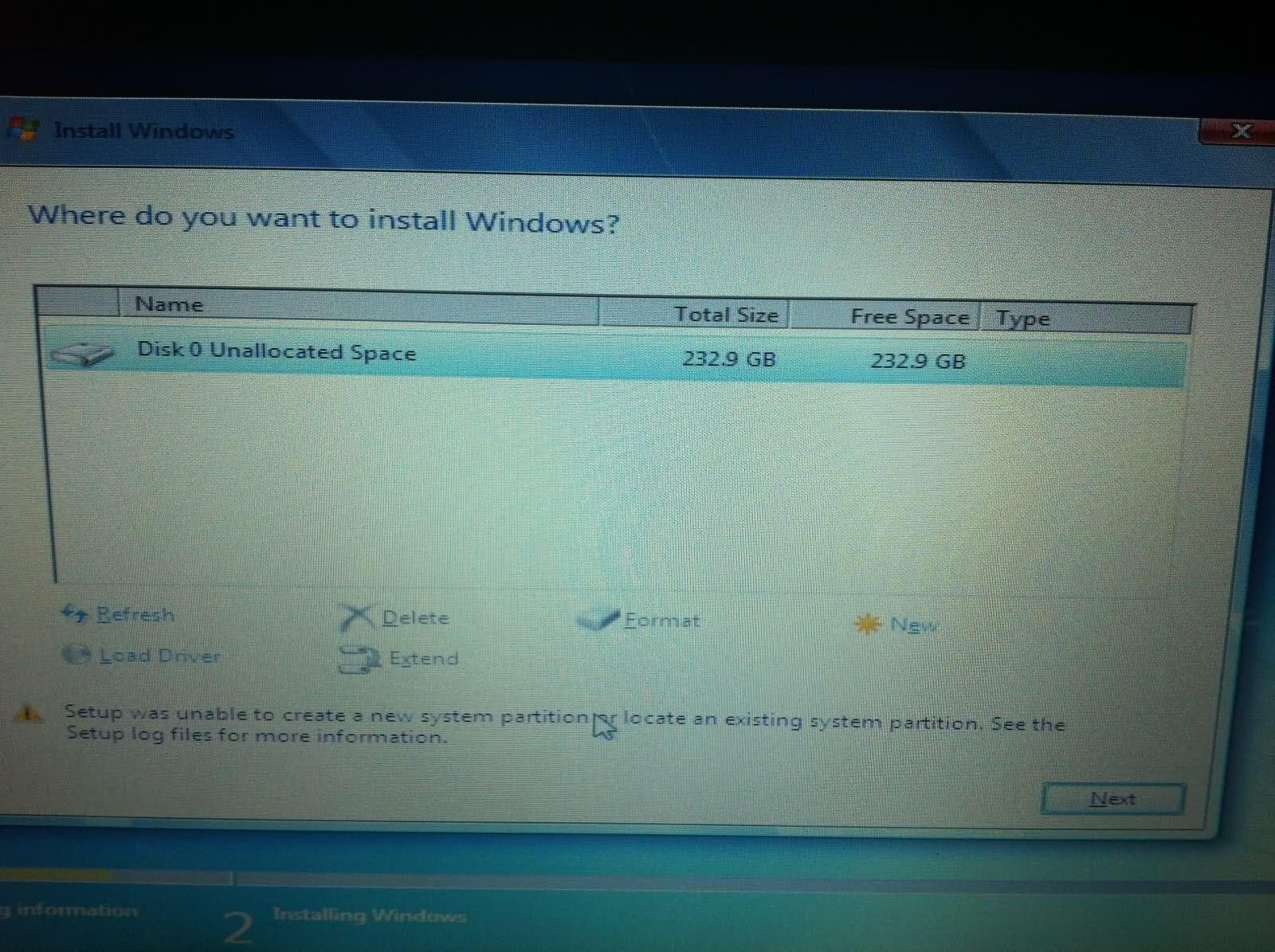 flan 39 s tech blog windows 7 install error using usb key. Black Bedroom Furniture Sets. Home Design Ideas