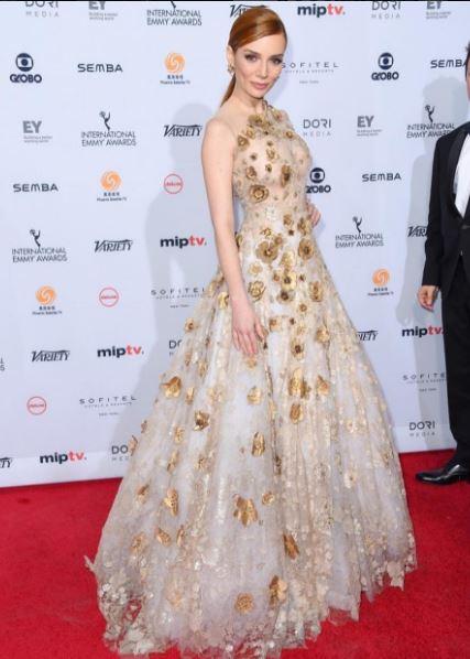 Maria Eugenia vestido no Emmy