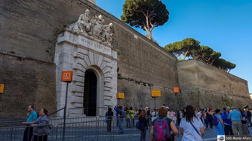 Entrada do Museu do Vaticano - Diário de Bordo: 3 dias em Roma