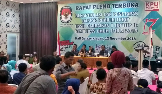 Rapat Pleno Terbuka KPU Lumajang