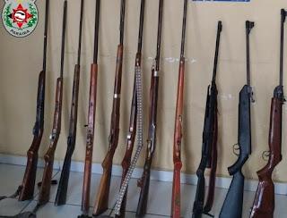 Polícia apreende 11 armas de fogo em Picuí