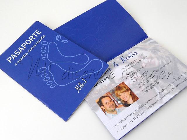 Invitaciones de Boda Pasaporte + Tarjeta de Embarque