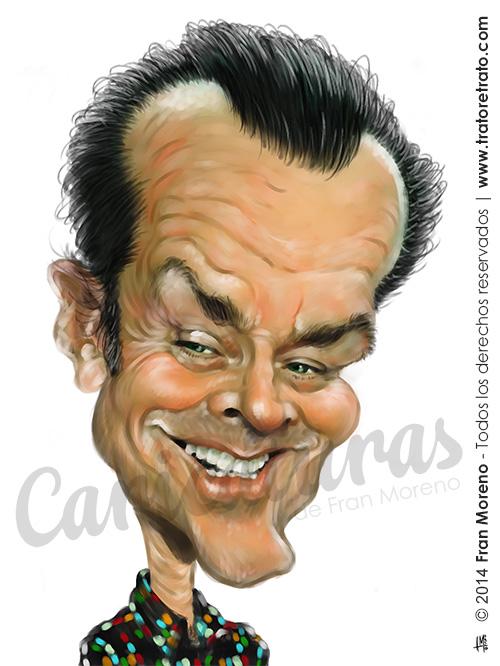 """Caricatura de """"Jack Nicholson"""" por Fran Moreno"""