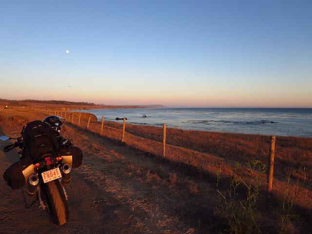 Aprilia Tuono San Simeon Sunset