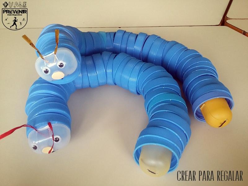 juguete reciclando tapas plástico diy