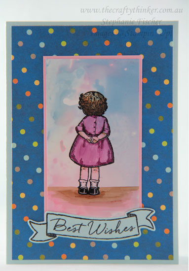 #thecraftythinker, #brusho, #cardmaking, #stampinup, #rubberstamping, Brusho background on glossy cardstock, Birthday Delivery, Stampin' Up! Australia Demonstrator, Stephanie Fischer, Sydney NSW