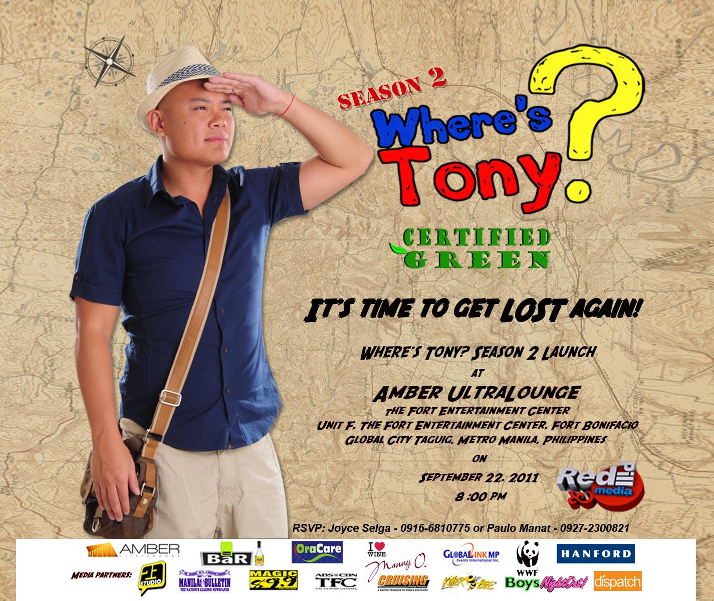 2764f6bb8290 A Travel Show   Where s Tony Season 2 Launch Party! ~ JOVIAL WANDERER