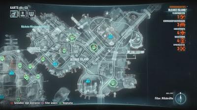 Batman Arkham Knight, Campaign For Disarmament, Bleak Island, Bomb Locations map