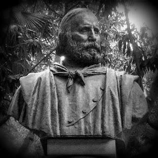 Busto de Garibaldi, no Parque da Luz, São Paulo