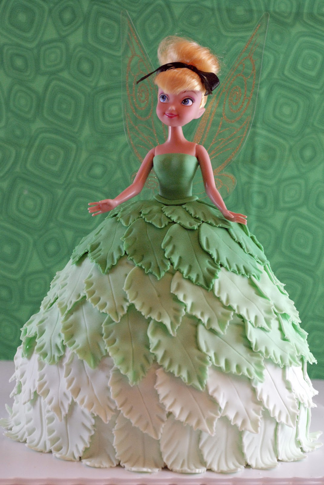 Night Baking Tinkerbell Doll Cake