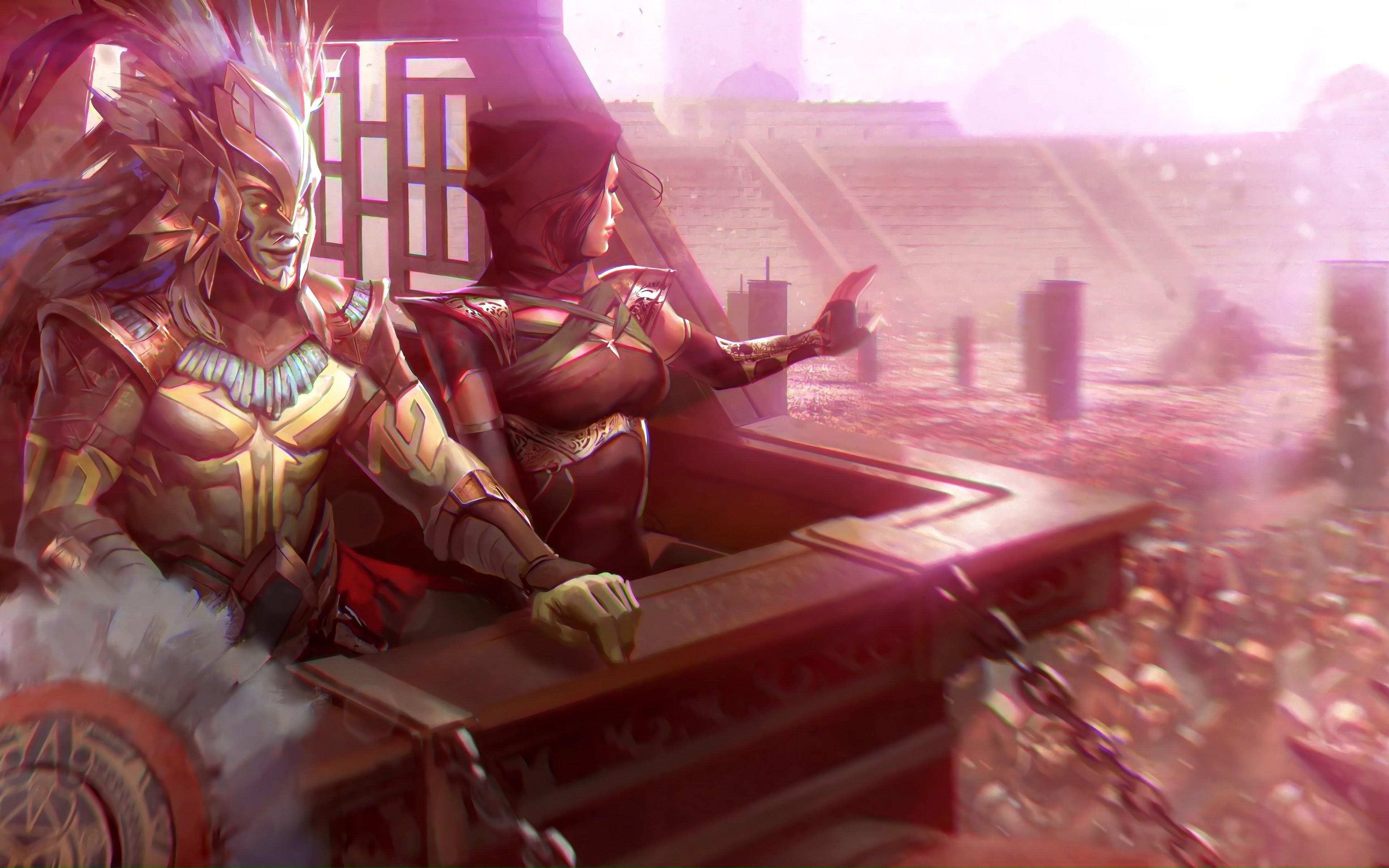 Kotal Kahn And Jade Mortal Kombat 11 4k Wallpaper 259