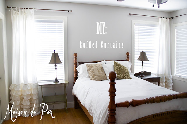 DIY Ruffled Curtains- Maison de Pax