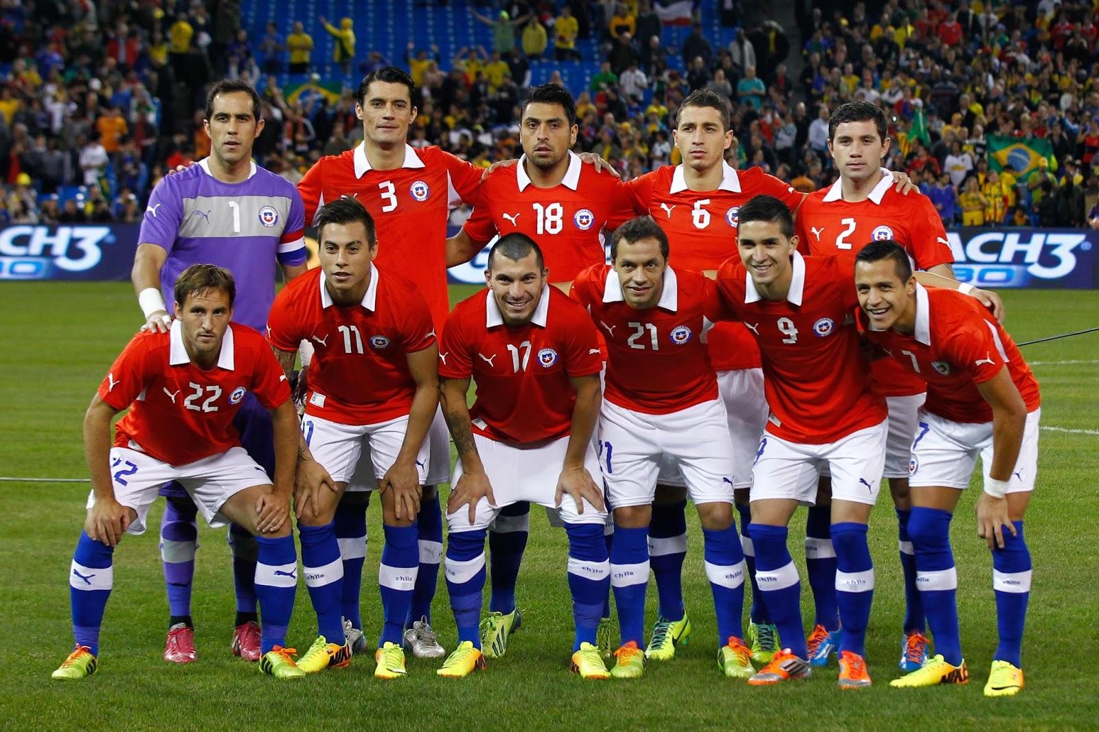 Formación de Chile ante Brasil, amistoso disputado el 19 de noviembre de 2013