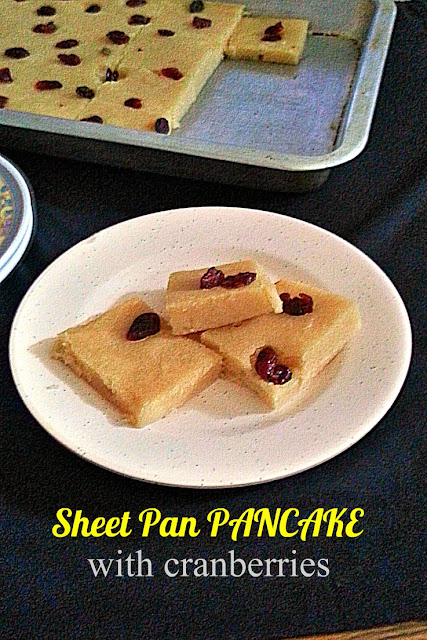 Sheet Pan Pancake w/cranberries Recipe  @ treatntrick.blogspot.com