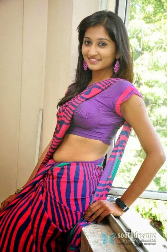 South Indian Actress Akshaya Hot In Saree Blouse Boob -2179