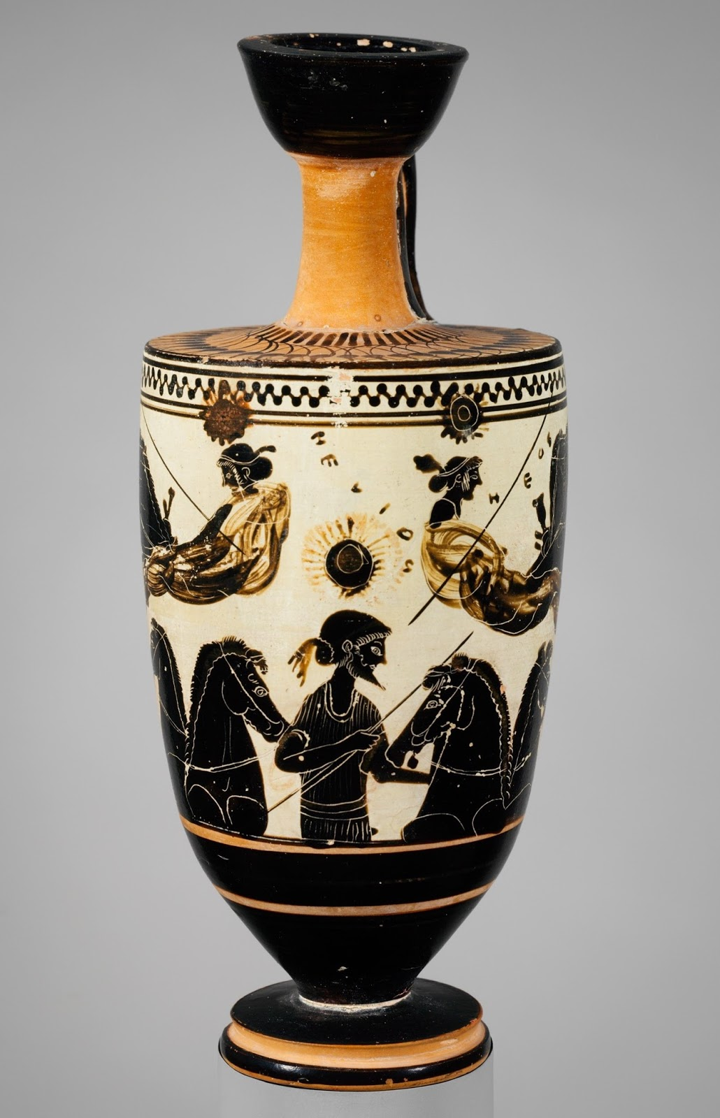 Panoply vase animation project blog above helios the sun rises with nyx night and eos dawn driving away in opposite directions in a scene on a lekythos pot now in the metropolitan reviewsmspy