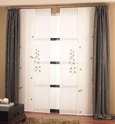 Disenyoss decoracion diferentes tipos de cortinas para for Panel japones blanco y gris