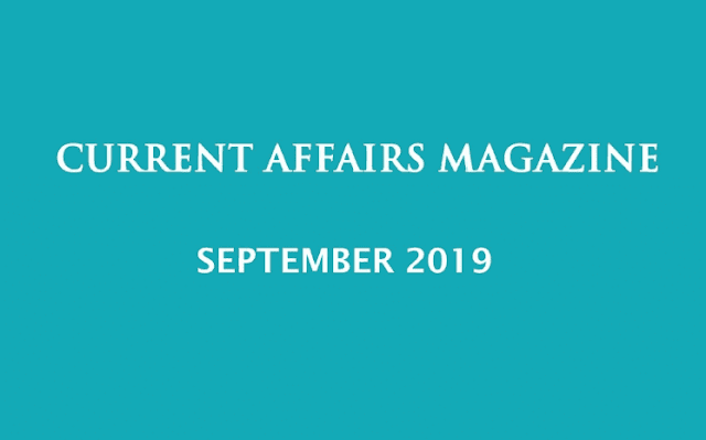 Current Affairs September 2019 iasparliament