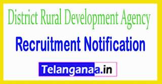 District Rural Development Agency Government of Telangana Recruitment Notification 2017