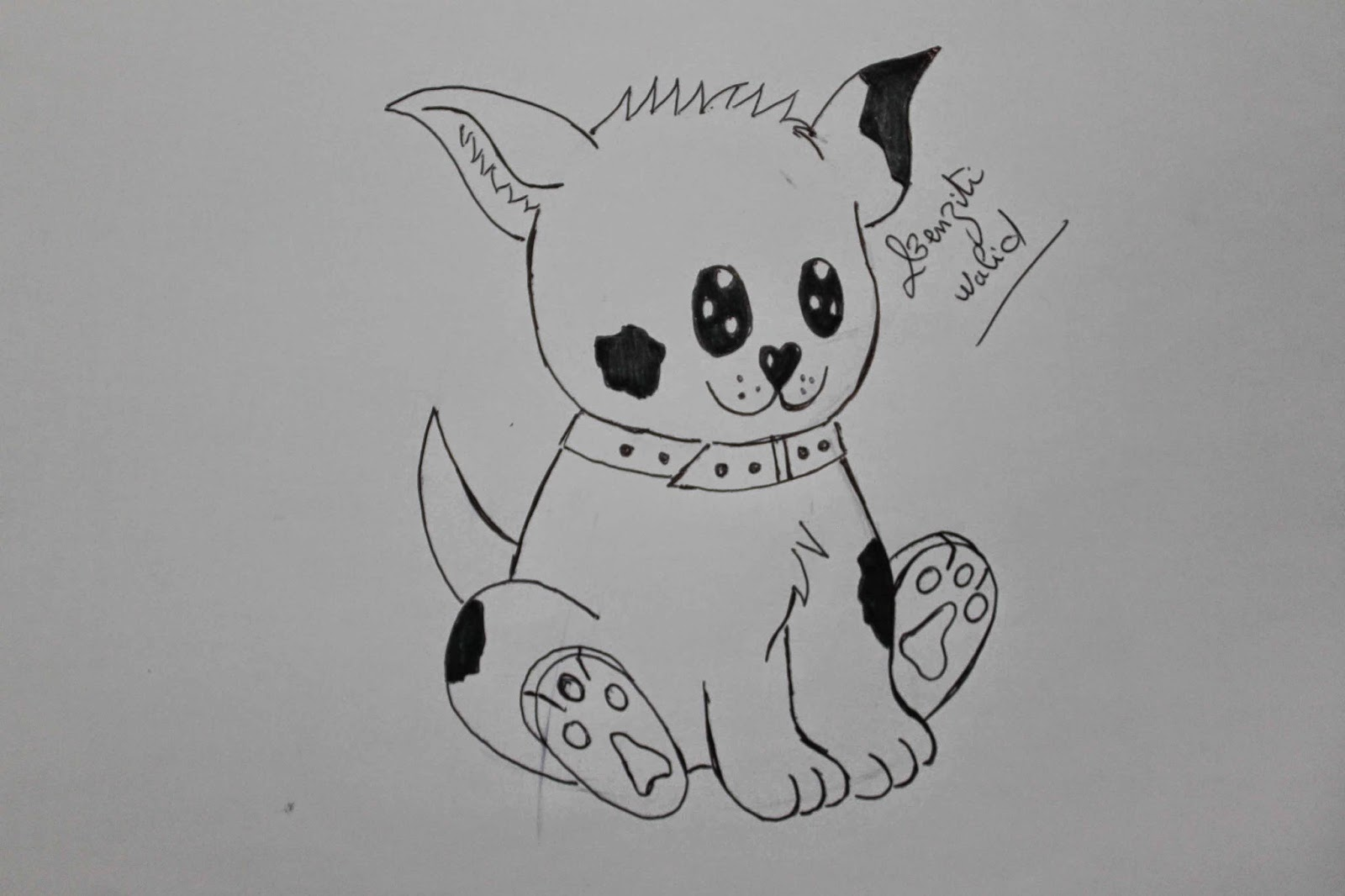 Comment dessiner un chien mignon facile mes dessins - Apprendre a dessiner des animaux mignon ...