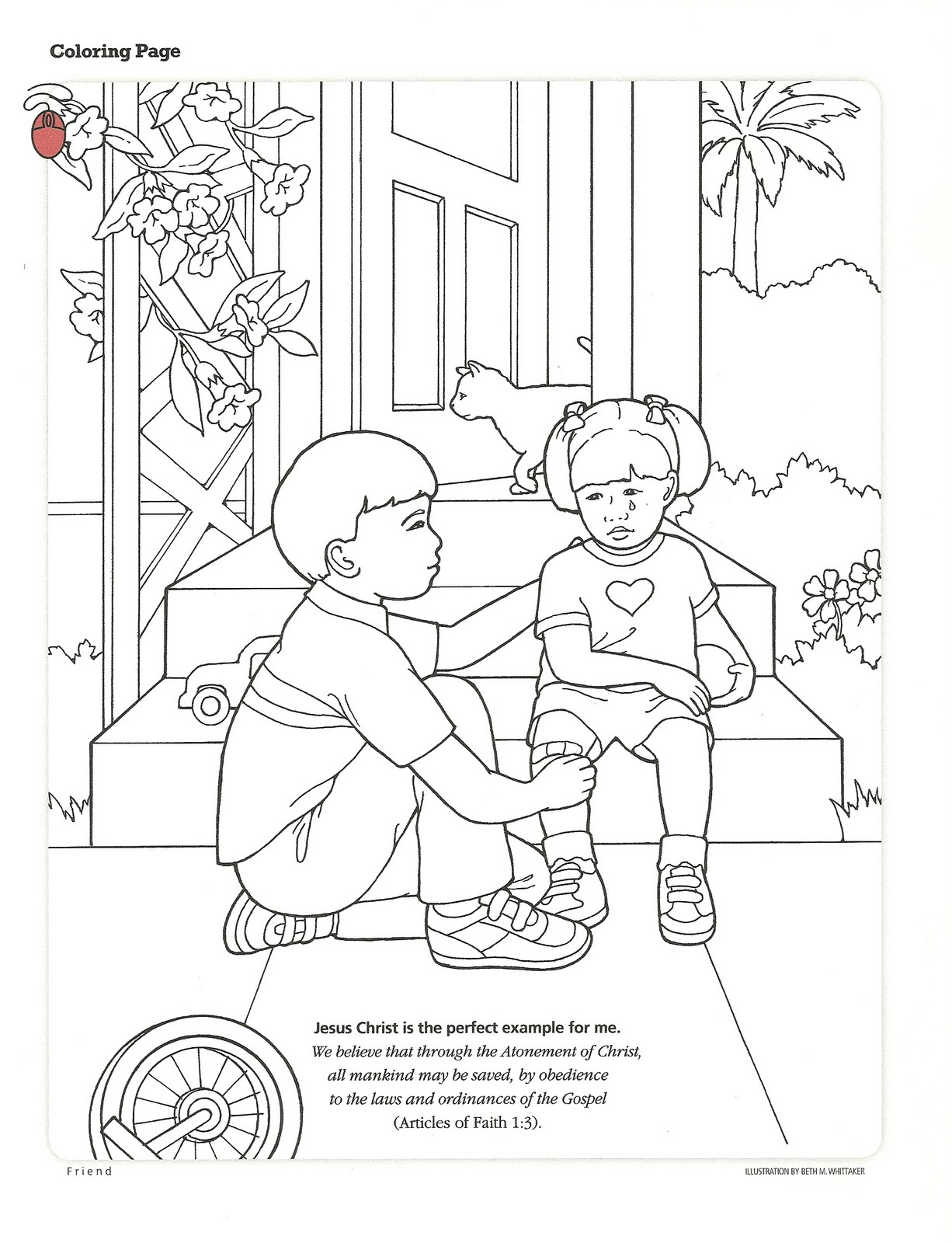 Happy clean living primary 3 lesson 23 for Coloring pages of helping others