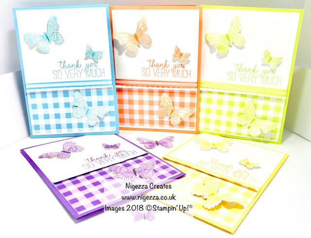 Butterfly Gala Customer Thank You Card Nigezza Creates