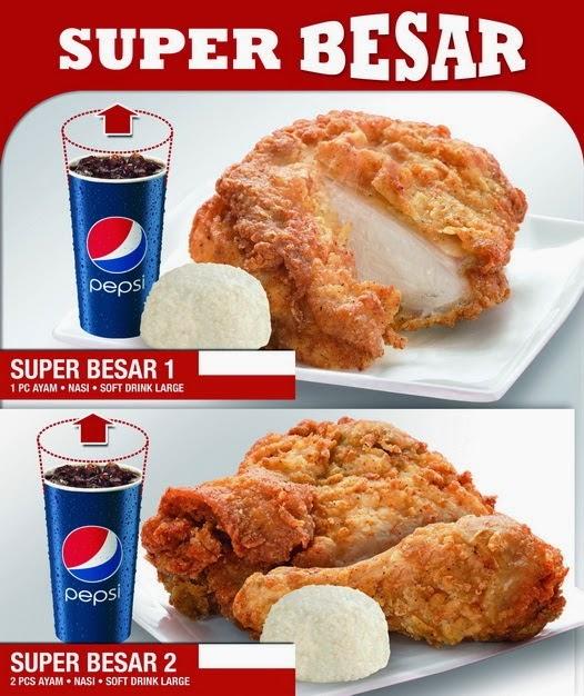 Daftar Harga Menu KFC Super Besar Terbaru 2017