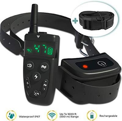 TBI Dog Collars - Waterproof Long-Range Control Pet Collar for Training Dogs