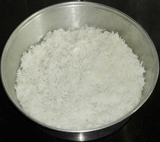 cook the rice and spread
