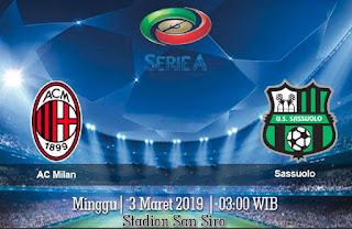 Prediksi AC Milan vs Sassuolo 3 Maret 2019