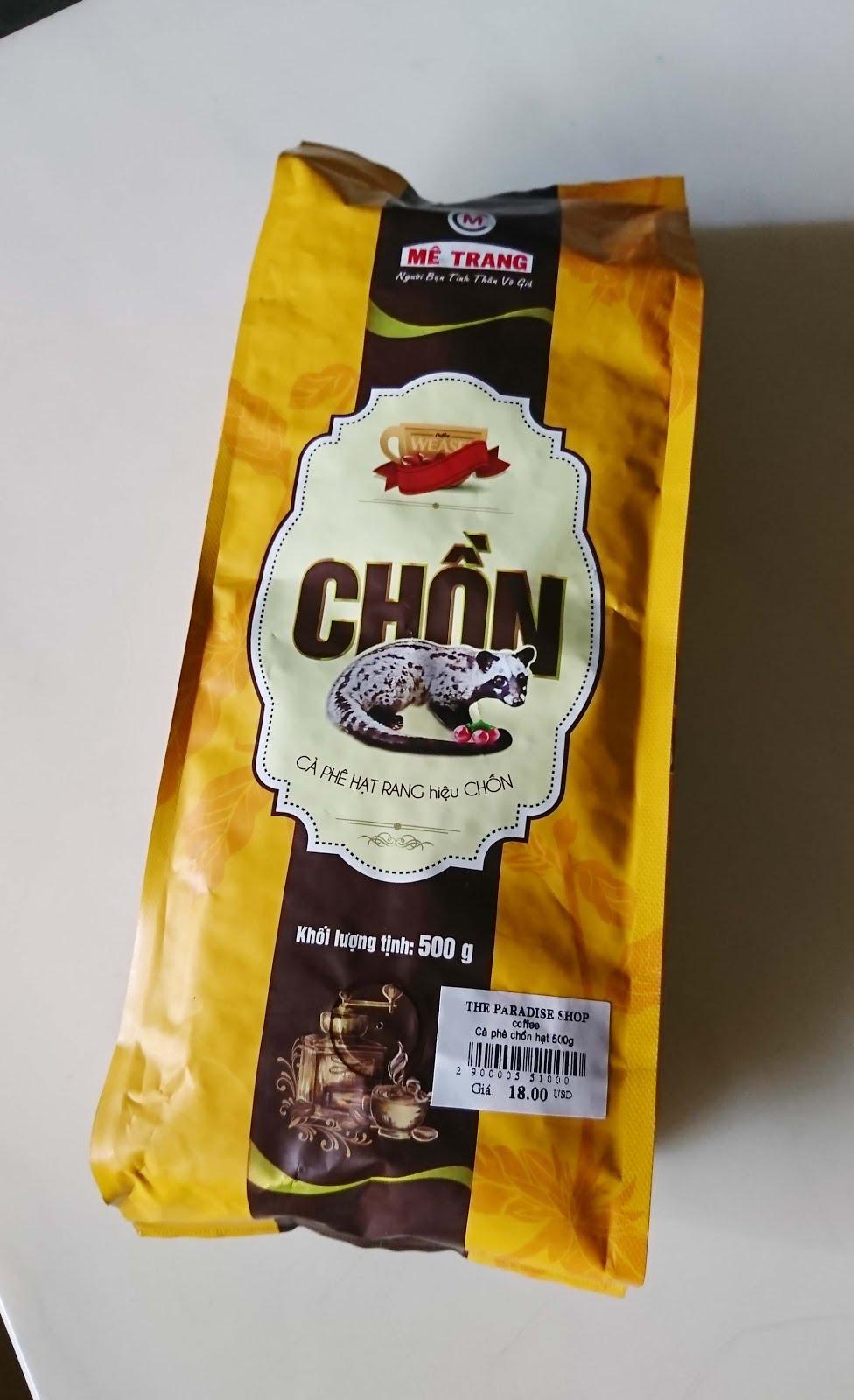 夢想與創造: [咖啡] 越南 Mê Trang 麝香貓咖啡 chon WEASEL