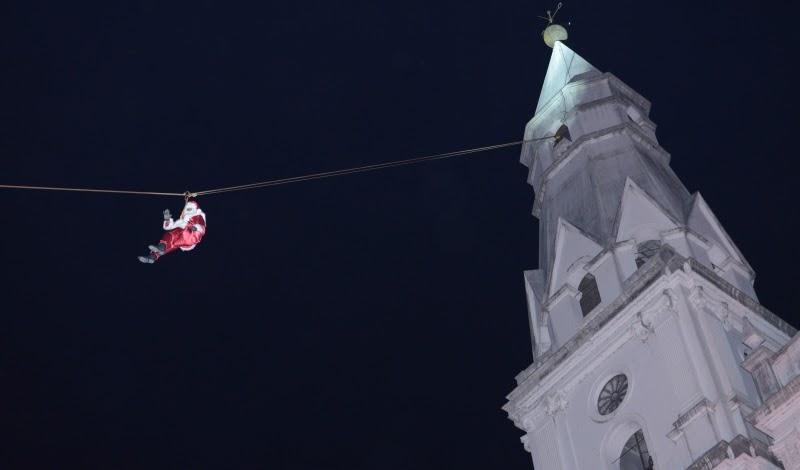 Papai Noel descerá de Tirolesa da Torre do Santuário Nossa Senhora das Dores