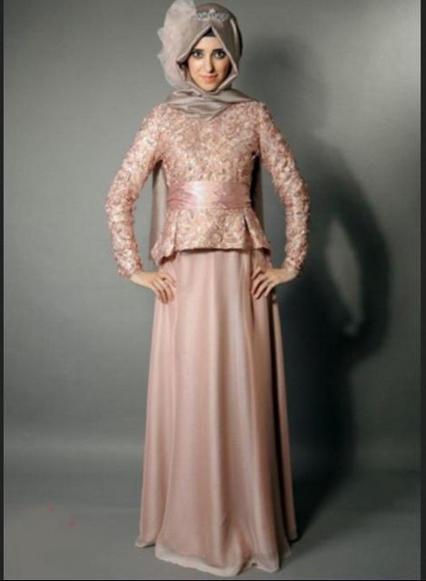 Model kebaya modern untuk pesta bagi hijabers