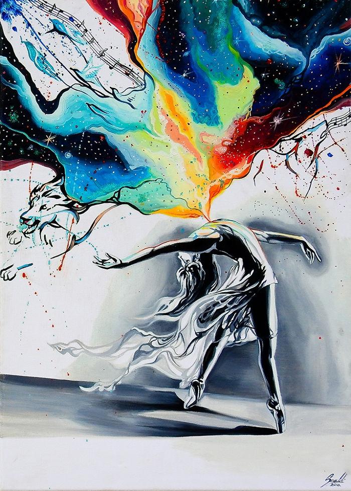 01-Ballerina-One-Vivien-Szaniszlo-Movement-Captured-with-the-Dancing-Ballerina-Paintings-www-designstack-co