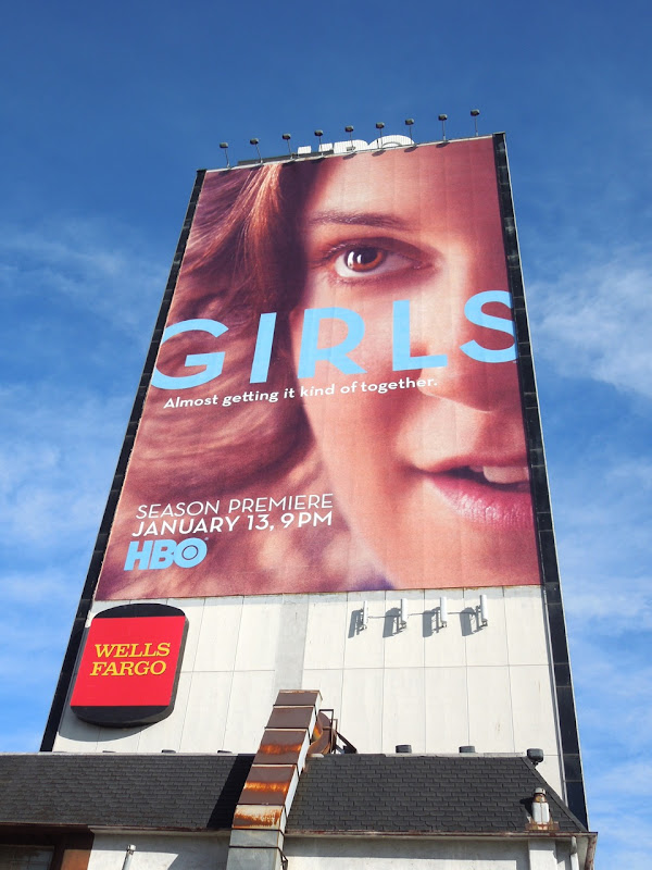 Giant Lena Dunham Girls season 2 HBO billboard