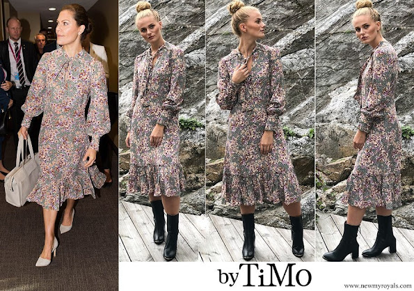 Crown Princess Victoria wore By Timo Printed Bow Dress
