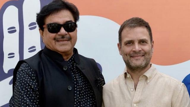 कांग्रेस अध्यक्ष राहुल गांधी से मिले शत्रुघ्न सिन्हा, छह अप्रैल को पार्टी में होंगे शामिल