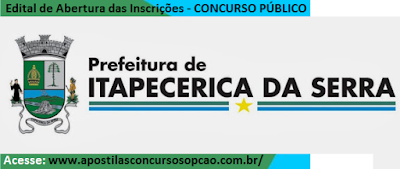 Apostila Concurso público Prefeitura Municipal de Itapecerica da Serra 2016.