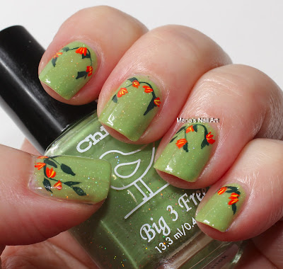 Marias Nail Art and Polish Blog: Flowers for a hipster chick