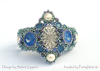 "Bracelet ""Lady Sybil"" beaded by PrettyNett.de"