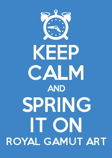 keep calm and spring it on royal gamut art