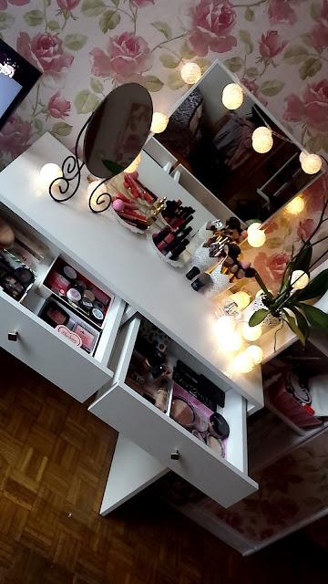 Roomtour- moja organizacja kosmetyków, nowości, toaletka, cotton balls, Ikea
